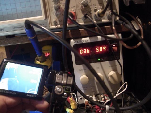 5Vで作動させる。
