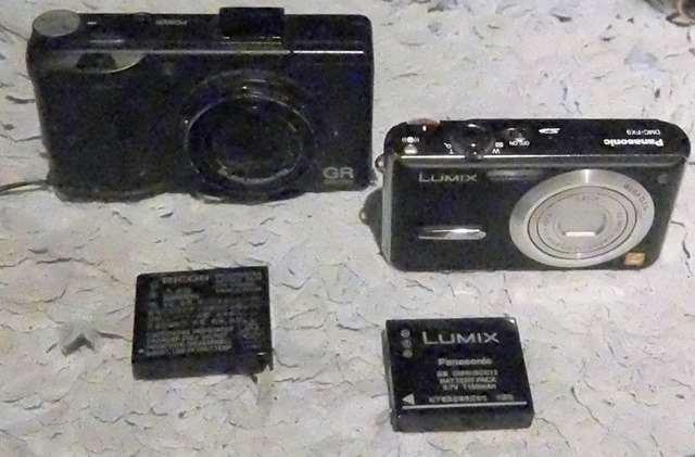 カメラと電池