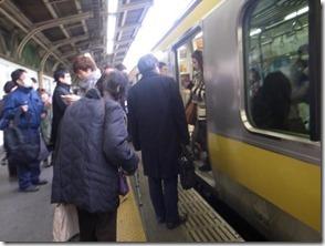 電車に乗ります